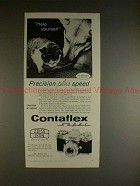 1961 Zeiss Contaflex Super Camera Ad - Help Yourself!!