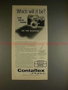 1961 Zeiss Contaflex Super Camera Ad - Which Will it Be