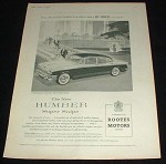 1958 Humber Super Snipe Car Ad, Most Luxurious!!