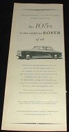 1958 Rover 105s Car Ad, Swiftest of All NICE!!