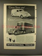 1940 International Harvester Truck Ad - Cross Country