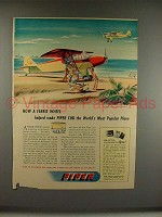 1946 Piper Cub Airplane Ad - How A Ferris Wheel Helped