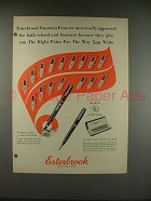 1948 Esterbrook Fountain Pen Ad - The Right Point!