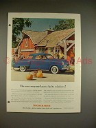 1948 Studebaker Starlight Coupe Car Ad!