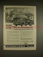 1948 International Harvester Truck Ad - Raw Materials
