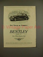 1951 Bentley Mark VI Car Ad - Town or Country