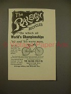 1894 Raleigh Bicycle Ad - All World Championships!