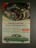 1954 Mercury Sun Valley Car Ad - First Transparent Top!