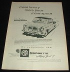 1959 MG Magnette Mark III Ad, More Luxury, Pace, Space!