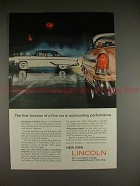 1955 Lincoln Car Ad - First Function is Perfromance!