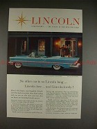 1957 Lincoln Premiere Convertible Ad - Long Low Lovely!