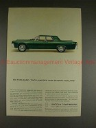 1963 Lincoln Continental Ad - Six Thousand Two Hundred!