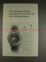 1965 Bulova Accutron Spaceview Model H Watch Ad - NICE!
