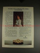 1982 Rolex Lady Datejust Watch Ad w/ Kiri Te Kanawa!!