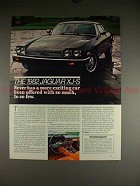 1982 Jaguar XJ-S Car Ad - Offered With So Much!!