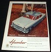 1959 Humber Super Snipe Car Ad, in Color NICE!!