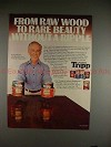 1982 Carver Tripp Wood Stain Ad w/ Harry Morgan!!
