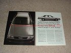 1983 2-page Audi 5000s Car Ad - Form is Function!!