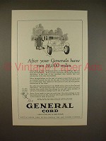 1925 General Cord Tire Ad - Run 10,000 Miles!