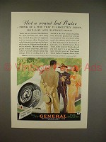 1934 General Dual Balloon Tire Ad - Praise!