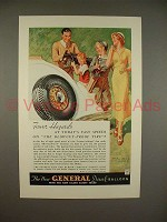 1934 General Dual Balloon Tire Ad - Fewer Hazards