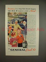1937 General Dual 10 Tire Ad - Makes a Stop s Stop