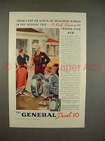 1937 General Dual 10 Tire Ad - Not Reclaimed Rubber