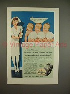 1945 General Tire Ad w/ Nurse - Tires Differ Too