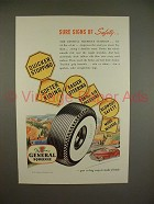 1948 General Squeegee Tire Ad - Signs of Safety