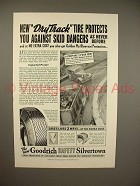 1938 Goodrich Safety Silvertown Tire Ad - Dry Track!
