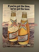 1971 Miller High Life Beer Ad - Got the Time