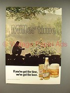 1972 Miller High Life Beer Ad - Miller Time!