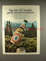 1979 Molson Ale Beer Ad - Canada Natural Resources