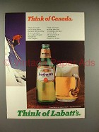 1979 Labatt's Beer Ad - Think of Canada!