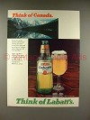 1980 Labatt's Beer Ad - Think of Canada!
