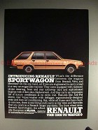 1984 Renault Sportwagon Ad - The One to Watch!!