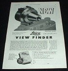 1944 Leica Camera Universal View Finder Ad, NICE!!