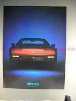 1986 Red Ferrari Car Ad, NICE!!
