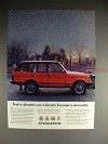 1989 Range Rover Ad - See Luxury Become a Necessity!