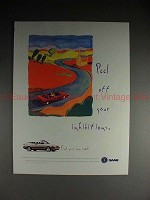1995 Saab 900 Convertible Ad - Peel off Inhibitions!