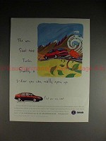 1996 Saab 900 5-door Turbo Car Ad - Can Really Open Up!