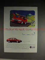 1997 Saab 900 SE Turbo 5-door Ad - Family Chauffeur!