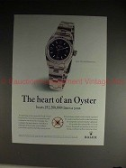 1997 Rolex Lady Oyster Perpetual Watch Ad - The Heart!