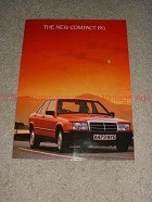 1983 3pg Mercedes Benz Compact 190 Ad - Its Every Inch!