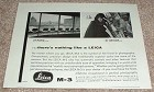 1958 Leica M3 Camera Ad - At Home or Abroad NICE!!