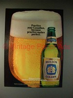 1983 Molson Golden Beer Ad - Practice Your Canadian
