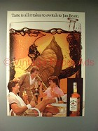 1983 Jim Beam Bourbon Whiskey Ad - Switch!