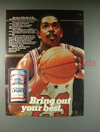 1983 Budweiser Light Beer Ad - Bring Out Your Best