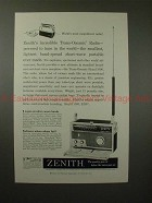 1959 Zenith Trans Oceanic Radio Ad - Most Magnificent!