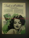 1947 Sierra Pine Soap Ad - Henry Clive, Carnation Girl!